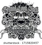 gothic sign with skull and... | Shutterstock .eps vector #1715820457