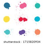 colorful paint splashes.paint... | Shutterstock .eps vector #1715820934
