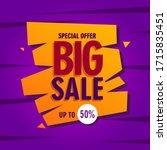 vector illustration of a sale... | Shutterstock .eps vector #1715835451