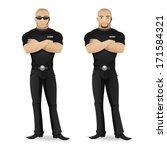 man security guard of nightclub   Shutterstock .eps vector #171584321