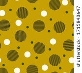 circles seamless pattern.... | Shutterstock .eps vector #1715843647