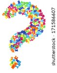 question sign from plastic... | Shutterstock . vector #171586607