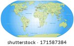 map of world with main cities... | Shutterstock . vector #171587384