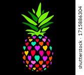 pineapple vector illustration.... | Shutterstock .eps vector #1715886304