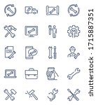 repair signs thin icon set.... | Shutterstock .eps vector #1715887351