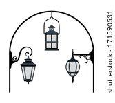 street lanterns | Shutterstock .eps vector #171590531