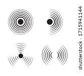 Sonar Signal Wave Vector Icon....