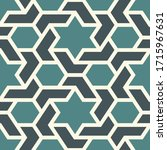 oriental ancient mosaic... | Shutterstock .eps vector #1715967631