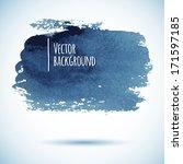 brushstroke banner. ink blue... | Shutterstock .eps vector #171597185