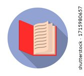 open book flat long shadow icon....