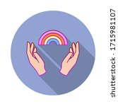 hands  rainbow  pride long...