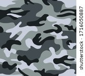 seamless classic camouflage... | Shutterstock . vector #1716050887