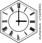 hexagon clock vector design 3 o'...