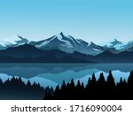 Forest And Lake Illustration...