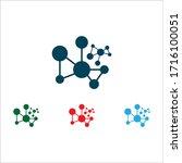 abstract molecule icon... | Shutterstock .eps vector #1716100051