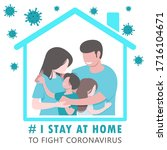 covid 19 coronavirus i stay at... | Shutterstock .eps vector #1716104671