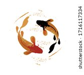 Koi Fish Illustration In In Art ...