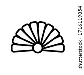 hand fan thin line icon... | Shutterstock .eps vector #1716119854