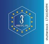3 year anniversary celebration  ... | Shutterstock .eps vector #1716140494