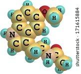 a structural molecular model of ... | Shutterstock . vector #171615884