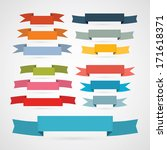 colorful retro ribbons  labels... | Shutterstock .eps vector #171618371