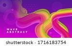 vibrant design. 3d graphic... | Shutterstock .eps vector #1716183754