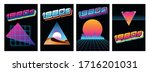 1980s posters  covers ... | Shutterstock .eps vector #1716201031