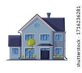 classic house facade  city... | Shutterstock .eps vector #1716236281