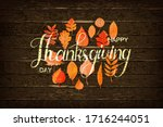 happy thanksgiving holiday... | Shutterstock .eps vector #1716244051