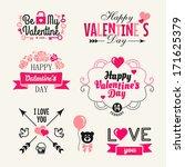valentine's day. set of...   Shutterstock .eps vector #171625379