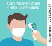 temperature check illustration. ... | Shutterstock .eps vector #1716256297