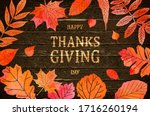 happy thanksgiving holiday... | Shutterstock .eps vector #1716260194