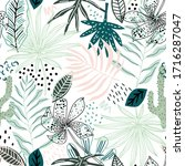 fabric  textile  pattern ... | Shutterstock .eps vector #1716287047