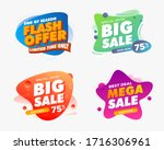 set of sale banner template... | Shutterstock .eps vector #1716306961