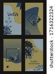 set of  card template design... | Shutterstock .eps vector #1716322324