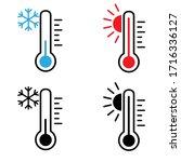 temperature vector icon cet.... | Shutterstock .eps vector #1716336127