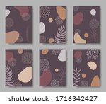 set of vector cards with...   Shutterstock .eps vector #1716342427