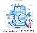 digital marketing. analytics ... | Shutterstock .eps vector #1716351271