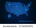 abstract image united states... | Shutterstock .eps vector #1716354391