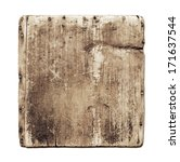 Old Grunge Wood Board Isolated...