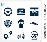 simple set of  9 filled icons... | Shutterstock . vector #1716386764