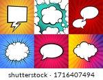 vector speech bubbles in flat...