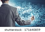 businessman standing with back...   Shutterstock . vector #171640859