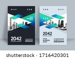 corporate book cover design... | Shutterstock .eps vector #1716420301