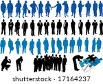 blue and black people | Shutterstock .eps vector #17164237