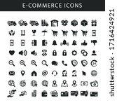 e commerce black isolated...   Shutterstock .eps vector #1716424921