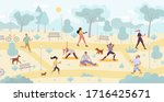people enjoy physical activity...   Shutterstock .eps vector #1716425671