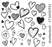 Doodle Hand Drawn Hearts...