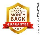 money back badge  guarantee... | Shutterstock .eps vector #1716457141