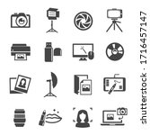photo studio icon set ... | Shutterstock .eps vector #1716457147